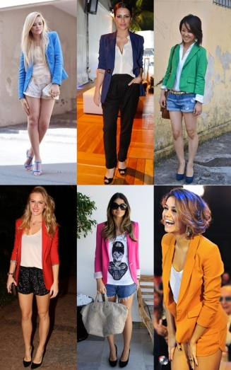 blazers coloridos